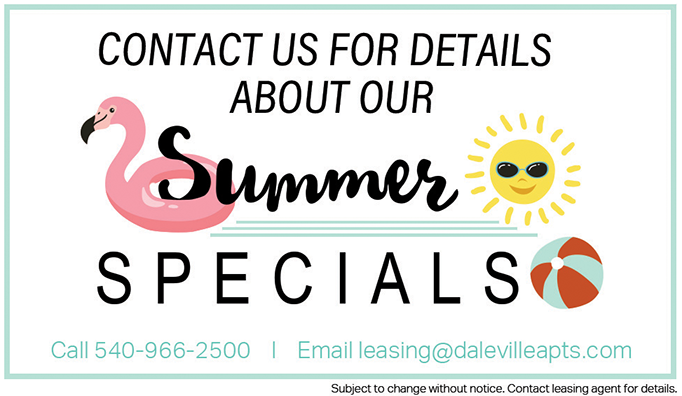 Summer Specials at Daleville Apartments