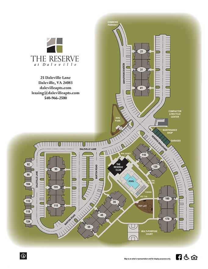 Reserve at Daleville Apartment Site Plan
