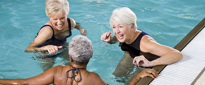 Women in Daleville Apartment Pool