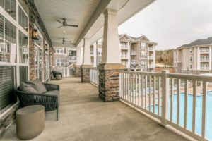 Daleville Apartment Balcony
